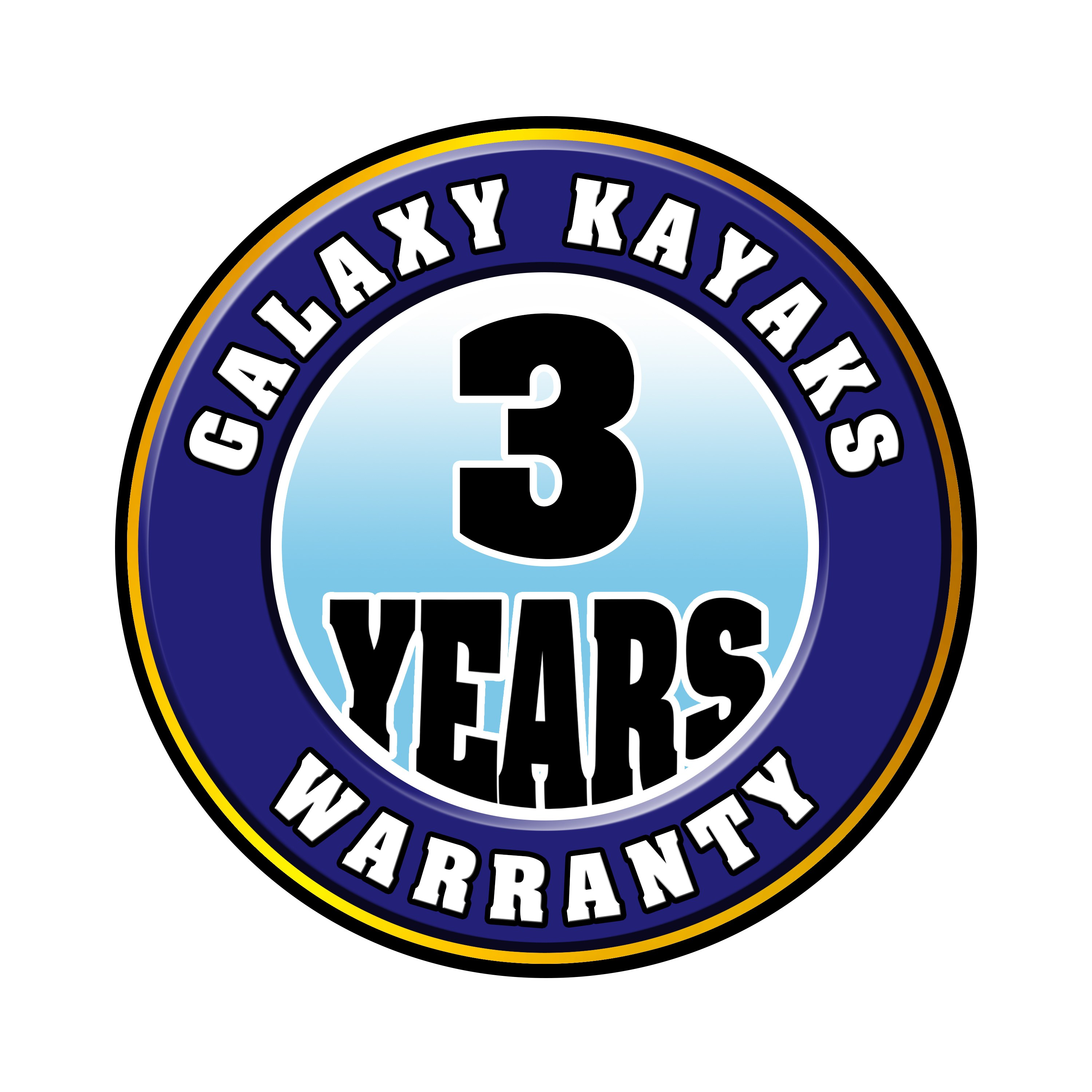 Galaxy Kayaks 3 Years Warranty